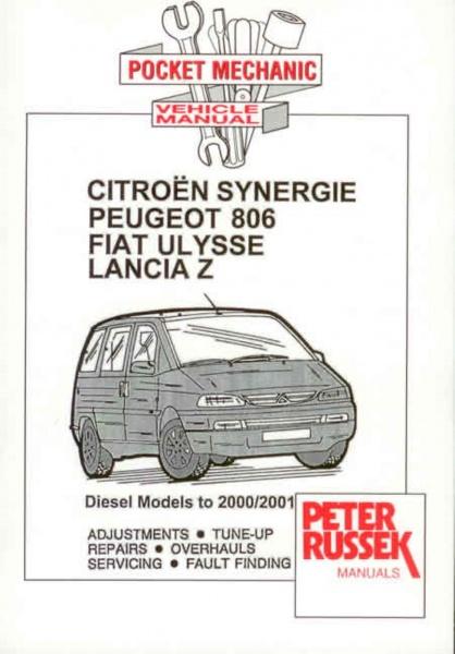 Haynes reparasjonshndbok Citroen Synergie Evasion Peugeot 806