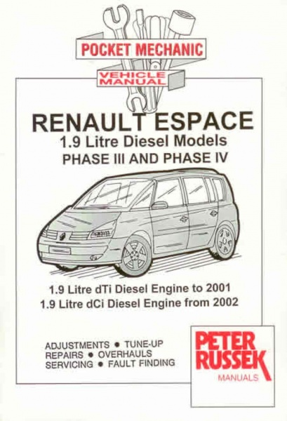 32111_Renault_Espace_Mk3_Mk4_Diesel_1 peter russek reparasjonsh�ndbok renault espace mk3 mk4 diesel renault espace mk4 wiring diagram at bayanpartner.co