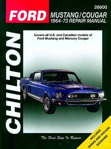 Subaru Diesel Usa >> Chilton reparasjonshåndbok: Ford Mustang/Cougar (64 - 73 ...